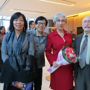 From Left: Ada Chen, Grace Lin, Araxie Altounian, Dr. Thomas Green