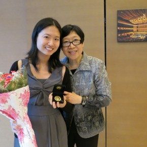 2012 Euromusic Graduates and Teachers: (From Left) Michelle Chiu (Gold medal Intermediate Piano Pedagogy) and Grace Lin