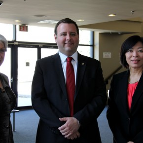 From left to right: Dr. Araxie Altounian, Alex Thomson, Ada Chen