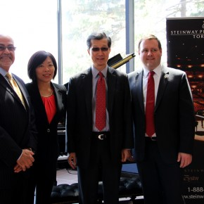 From left to right: Paul Rizzi, Ada Chen, Michael Chan, Alex Thomson