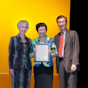 From left to right: Dr. Araxie Altounian, Grace Lin, Michael Chan.