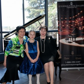 From left to right: Grace Lin, Olga Gostioujeva, Ms. Larisa Niurenberg