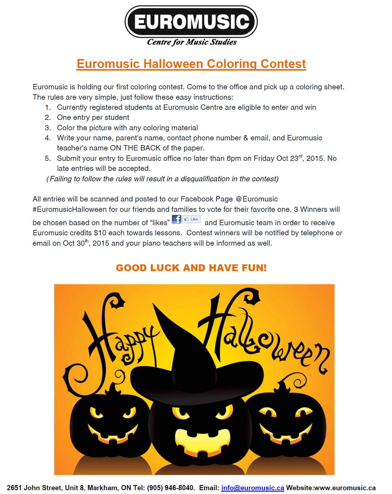 halloween coloring contest - Halloween Coloring Contest 3