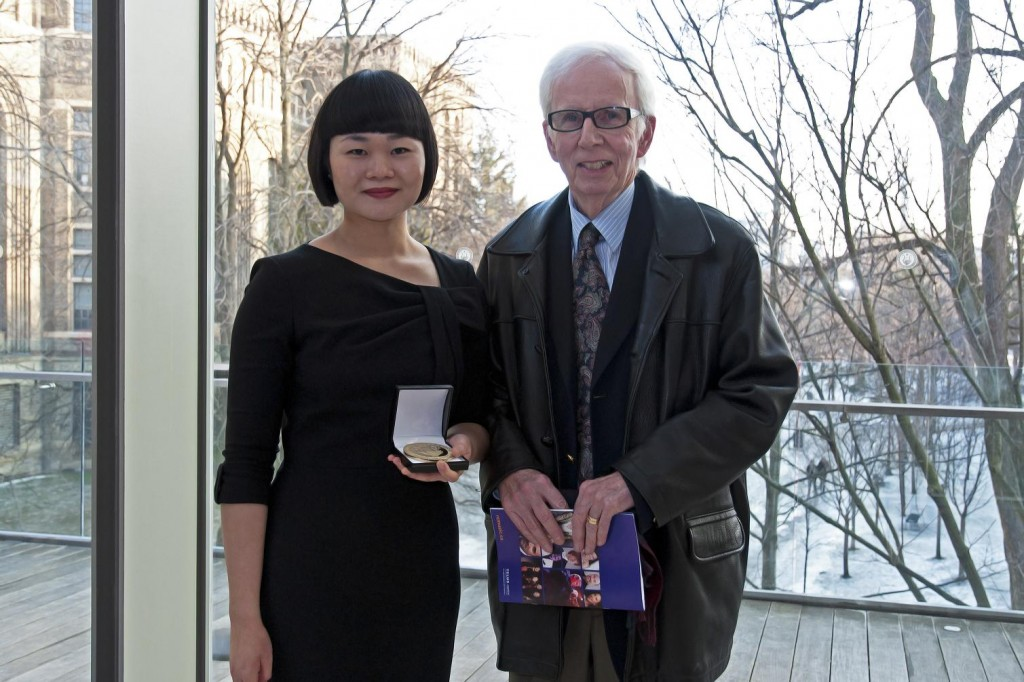 Julia Zheng (ARCT Teacher, gold medallist) and Mr. James Lawless