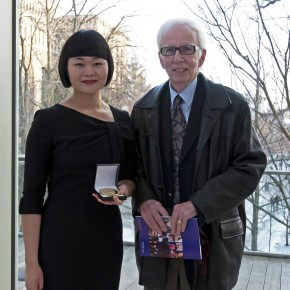 Julia Zheng (ARCT Teacher, gold medallist) and Mr. James Lawless