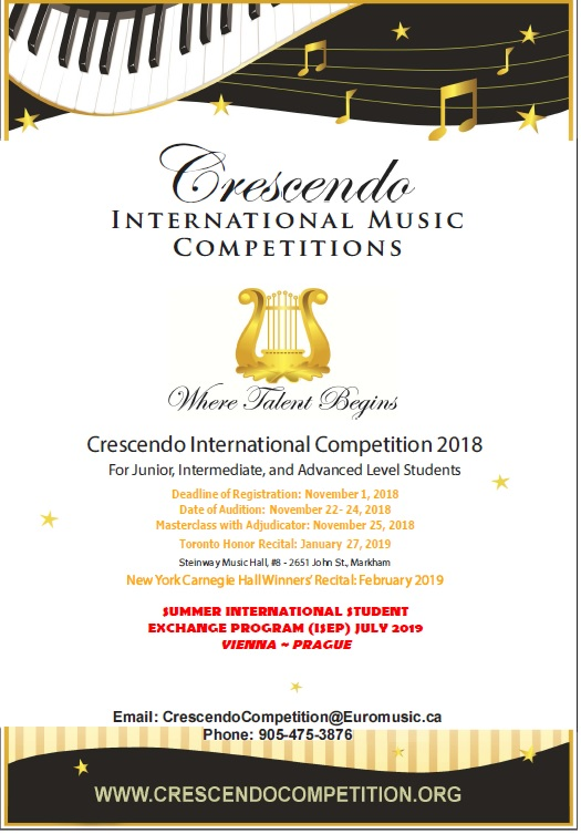 Crescendo International Competition 2018 | Euromusic